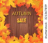 autumn sale. vector typography... | Shutterstock .eps vector #321367859