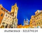Prague  Czech Republic. Dusk...