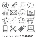 seo line icons | Shutterstock .eps vector #321378200