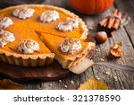 Pumpkin Pie With Whipped Cream...