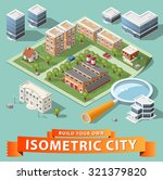 build your own isometric city.... | Shutterstock .eps vector #321379820