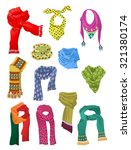 set of scarves for girls... | Shutterstock .eps vector #321380174