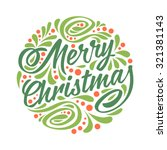 holidays greeting card with a... | Shutterstock . vector #321381143