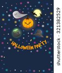halloween party colorful design | Shutterstock .eps vector #321382529