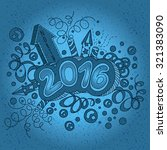 happy new year 2016 text design.... | Shutterstock .eps vector #321383090