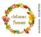 Autumn Frames On White...