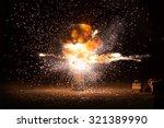 realistic fiery explosion... | Shutterstock . vector #321389990