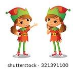 cute santa's elf | Shutterstock .eps vector #321391100