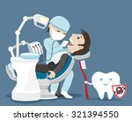 vector illustration. dentist... | Shutterstock .eps vector #321394550