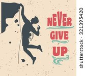 vector motivational and... | Shutterstock .eps vector #321395420
