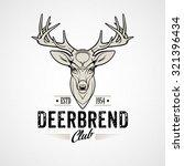 Deer Head Design Element In...