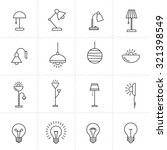 light fixture linear icon set.... | Shutterstock .eps vector #321398549