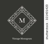 vintage monogram. vector emblem ... | Shutterstock .eps vector #321401420