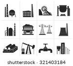 black heavy industry icons  ... | Shutterstock .eps vector #321403184