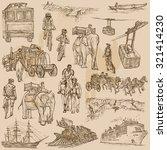 transport around the world.... | Shutterstock .eps vector #321414230