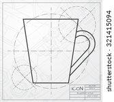 vector classic blueprint of cup ... | Shutterstock .eps vector #321415094