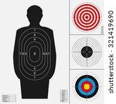 shooting target set. silhouette ... | Shutterstock .eps vector #321419690