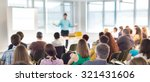 speakers giving a talk at... | Shutterstock . vector #321431606