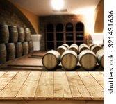 Blurred Interior Barrels Wine Yellow - Fine Art prints