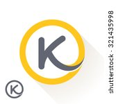 k letter with round line logo....