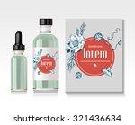 realistic essential oil bottle. ...   Shutterstock .eps vector #321436634