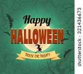 happy halloween banner. vector... | Shutterstock .eps vector #321436673