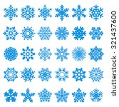 set of vector snowflakes | Shutterstock .eps vector #321437600