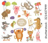 cute animal set | Shutterstock .eps vector #321437999