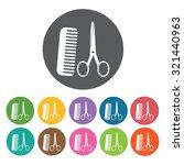 hair salon icon  hotel set.... | Shutterstock .eps vector #321440963