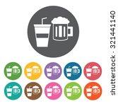 beverage icon  hotel set.... | Shutterstock .eps vector #321441140