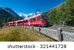 swiss mountain train bernina... | Shutterstock . vector #321441728