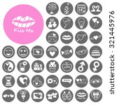 sweets heart collection icons... | Shutterstock .eps vector #321445976