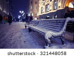 Bench Winter Street City...