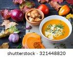 Pumpkin Soup Among Autumn...