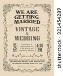 wedding invitation frame... | Shutterstock .eps vector #321454289