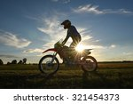 motocross rider in the country... | Shutterstock . vector #321454373