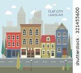 flat design urban landscape... | Shutterstock .eps vector #321455600