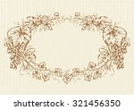 hand drawn vintage oval... | Shutterstock .eps vector #321456350
