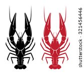 Vector Crayfish Isolated On...