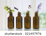 brown bottle  with aromatic... | Shutterstock . vector #321457976