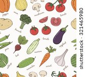 vegetables with names seamless... | Shutterstock .eps vector #321465980