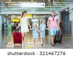 smiling family with children at ... | Shutterstock . vector #321467276