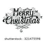 merry christmas retro poster... | Shutterstock .eps vector #321475598