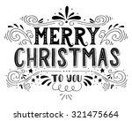 merry christmas retro poster... | Shutterstock .eps vector #321475664