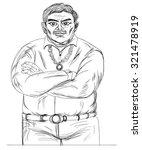 hand drawn mafia  | Shutterstock .eps vector #321478919
