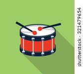 vector drum icon | Shutterstock .eps vector #321479654