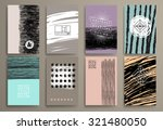 set of vintage  cards with... | Shutterstock .eps vector #321480050