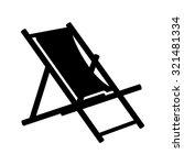 beach chair icon   beach chaise ... | Shutterstock .eps vector #321481334