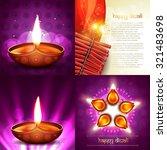 vector set of happy diwali... | Shutterstock .eps vector #321483698
