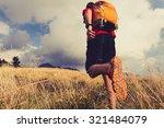 hiking man or trail runner... | Shutterstock . vector #321484079